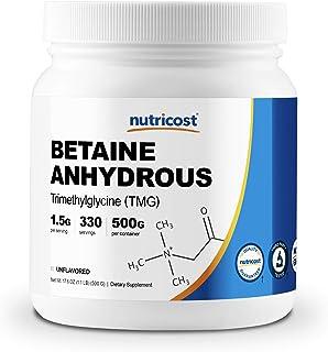 Betaine Anhydrous Trimethylglycine (TMG) Powder 500 Grammes