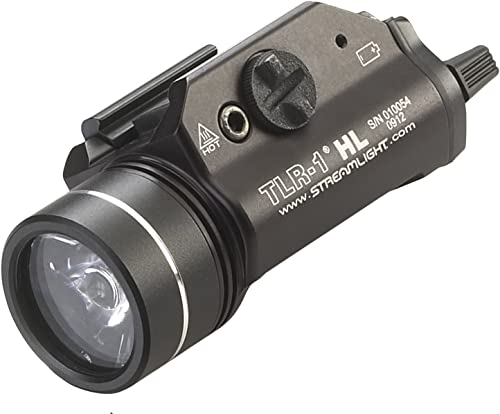 Streamlight 69260 TLR-1 HL 1000-Lumen Tactical Weapon Mount Light With Rail Locating Keys & Lithium Batteries, Black ...