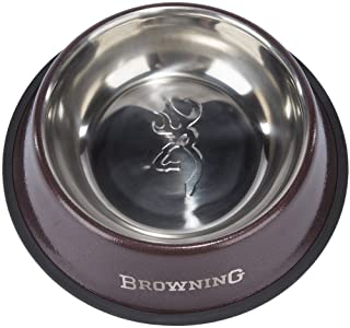"""Browning Stainless Steel Pet Dish Hunting Dog Food Bowl, Stainless Steel, 11"""", Bronze, X-Large"""