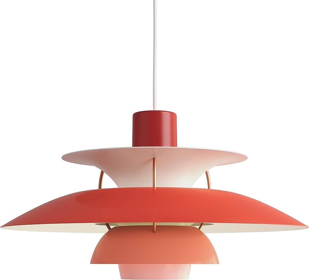 Louis poulsen ph 5,lampada a sospensione,in alluminio verniciato 5741099825