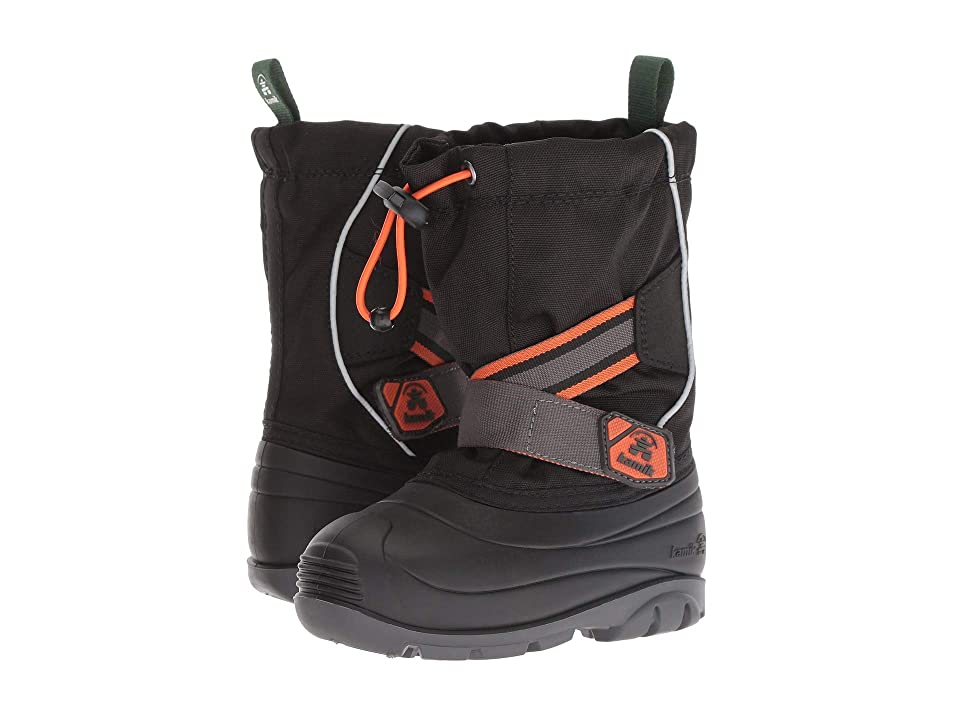 Kamik Kids Ziggy Wide (Toddler) (Black/Orange) Boys Shoes