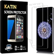 KATIN Galaxy S9 Plus Screen Protector - [2-Pack] [Full Max Coverage] Screen Protector for Samsung Galaxy S9 Plus (Case Friendly) HD Clear Anti-Bubble Film with Lifetime Replacement Warranty