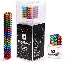 Multi Colored DigitDots 224 pieces 5 Millimeter Magnetic Balls The Original Updated for 2019 Adult Fidget Toys Rare Earth Magnets Desk Toys Desk Games Magnet Toys Magnetic Balls Stress Relief Toys