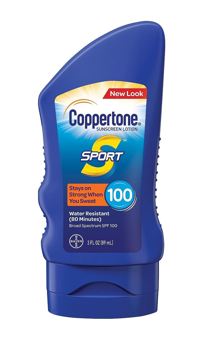 筋精通した管理者Coppertone スポーツ日焼け止めローション広域スペクトルSPF 100(3-流体オンス)
