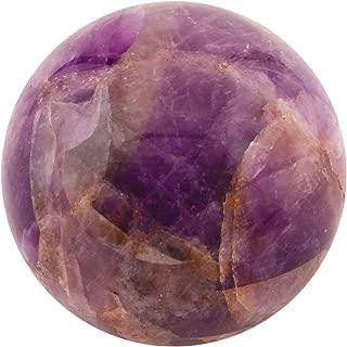 Healing Crystals India Amethyst Sphere Natural Deep Purple Crystal Quartz Mineral Crystals Healing Stones Crystal Decor Amethyst Crystal Healing Aura Stones and Crystals Polished Ball (40-50 MM)