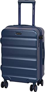 ROMEING Venice Polycarbonate (20 Inch | 55 cm) Hard-Sided Cabin Luggage (Blue) Trolley Bag