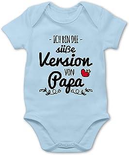 Shirtracer Vatertagsgeschenk Tochter & Sohn Baby - Ich Bin die süße Version von Papa - Baby Body Kurzarm für Jungen und Mädchen