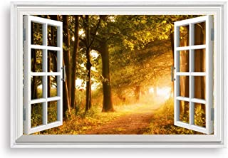 NWT Framed Canvas Wall Art for Living Room, Bedroom Fake Window Sunny Day Canvas Prints for Home Decoration Ready to Hanging - 24x36 inches