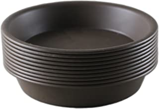 Truedays Flower Plant Container Pot Saucer Trays Pallet,10-Pack,6-Inches,Coffee