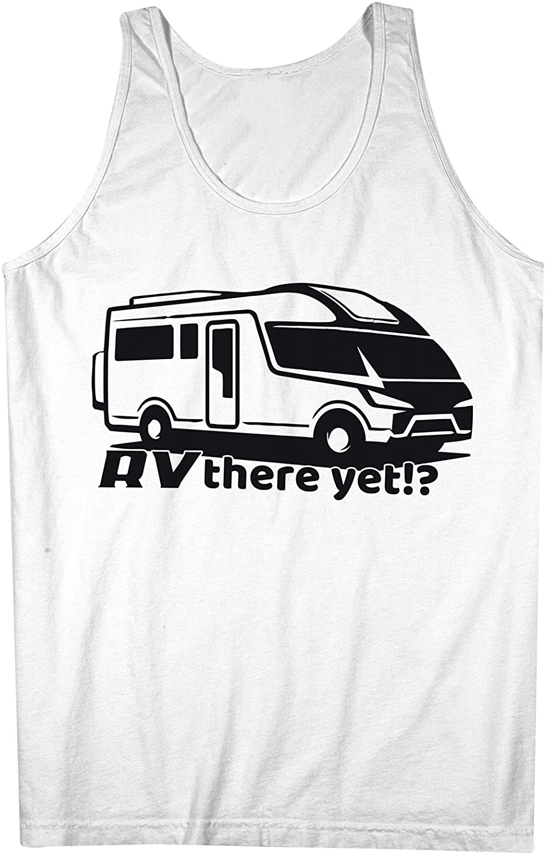 RV There Yet Recreational Vehicle おかしいです Traveling 男性用 Tank Top Sleeveless Shirt