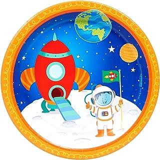 BirthdayExpress Solar System Rocket to Space Astronaut Party Supplies - Dessert Plates (8)