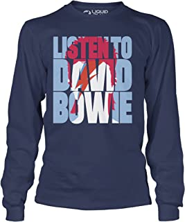 Liquid Blue David Listen to Bowie Aladdin Sane Long Sleeve Tee