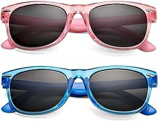 نظارة شمس مستقطبة مطاطية مرنة للأطفال الأولاد والبنات سن 2-9، إطار غير قابل للكسر وعدسة حجب للأشعة فوق البنفسجية بنسبة 100%