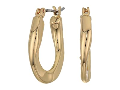 Rebecca Minkoff Link Mini Hoops Earrings (Gold) Earring