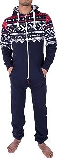 Mens Hoodie Jumpsuit Onesie One Piece Pajamas