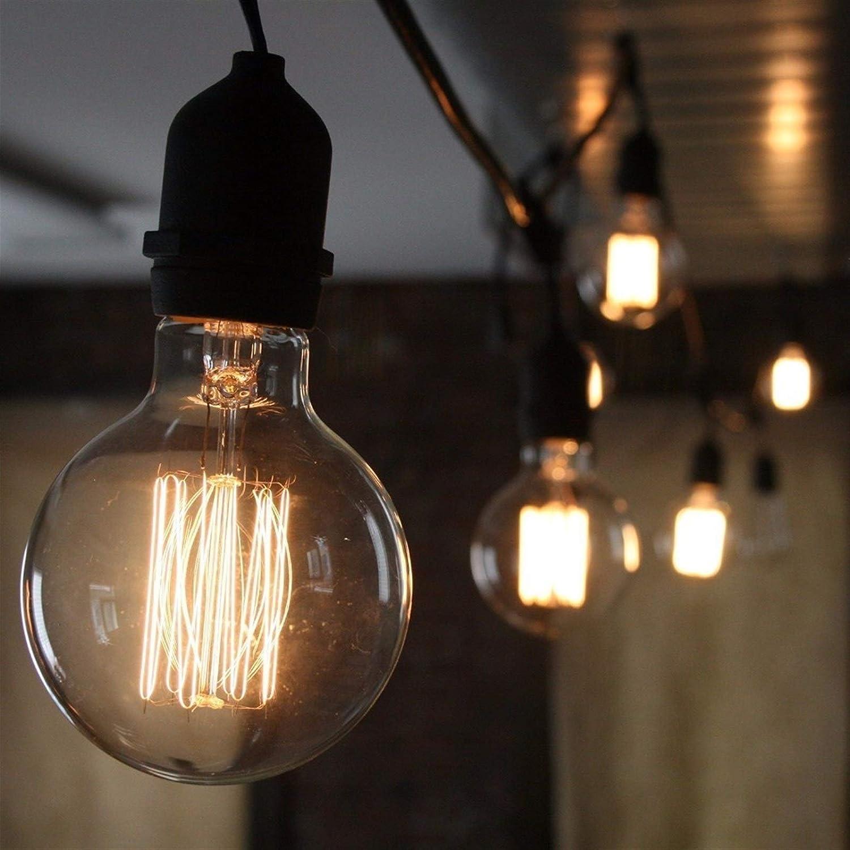 Base Type : E27, Color : B TSAUTOP Retro E-di-Son Bulb E27 220V 40W ST64 G80 G95 G125 Ampoule Vintage E-di-Son Bulb Incandescent Lamp Filament Light Bulb Home Decor