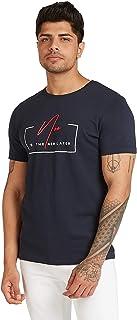 Iconic Men's 2300373 U 20 STATEME Cotton T-Shirt, Navy