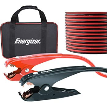 Energizer Jumper Cables for Car Battery, Heavy Duty Automotive Booster Cables for Jump Starting Dead or Weak Batteries with Carrying Bag Included (25-Feet (1-Gauge))