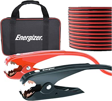 Energizer 1-Gauge 800A Heavy Duty Jumper Battery Cables 25 Ft Booster Jump Start - 25' Allows You To Boost Battery From Behind A Vehicle!: image