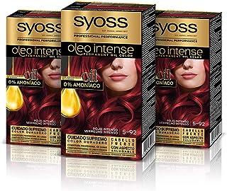 Syoss Oleo Intense - Tinte 5-92 Rojo Intenso – Coloración permanente Sin Amoníaco – Cobertura profesional de canas – Resul...