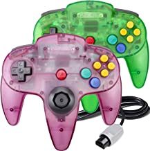 $26 » 2 Pack N64 Controller, King Smart Classic Wired N64 64-bit Gamepad Joystick for Ultra 64 Video Game Console N64 System(Jun...