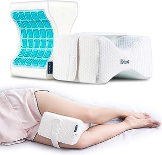 Elviros Almohada ortopédica para rodilla para personas que duermen de lado - Almohada ergonómica de espuma con memoria para personas que duermen en la espalda y dolor de espalda [blanco]