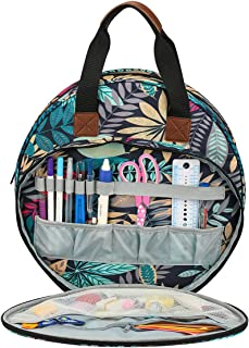 KOKNIT Embroidery Project Organizer Bag, Perfect Size for Cross Stitch Projects, Embroidery Carrying Tote Bag for Crafters...