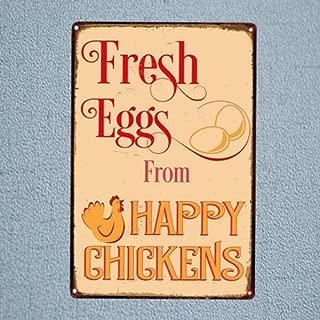 wwttoo Alimentos bebidas perro Caliente huevos Frescos cócteles Metal estaño signo Vintage Bar Café casa granja cocina placa pintura arte de la pared decoración-20x30cm No Frame 20