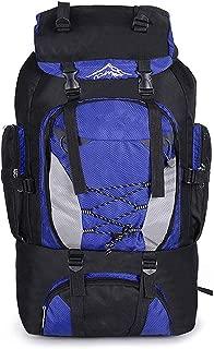 Outdoor Climbing Rucksack Trekking Backpacks 80L Camping Hiking Bag Sports Bags Travel Waterproof Men,skyblue,OneSize