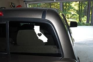 Classy Vinyl Creations Love California Heart California I Love California Car Truck Automotive Window Black or White Decal Bumper Sticker 5.2