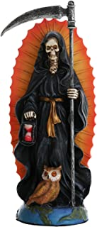 Pacific Giftware Santa Muerte Saint of Holy Death Standing Religious Statue 7.25 Inch Black Magic Protection Santisima Muerte Sculpture