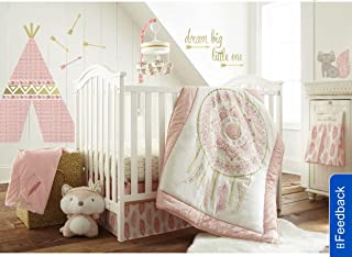 Levtex Home Baby Little Feather 5Piece Crib Bedding Set, Coral