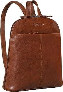 STILORD 'Olivia' City Rucksack Damen Leder Daypack Kleiner Lederrucksack Rucksackhandtasche zum Ausgehen für 9,7 Zoll iPad...