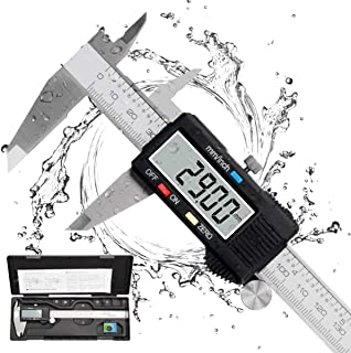 Calibre Digital, Qfun Pie de Rey Profesional Acero Inoxidable 150 mm con Pantalla LCD Grande Calibrador Digital Precisión ...