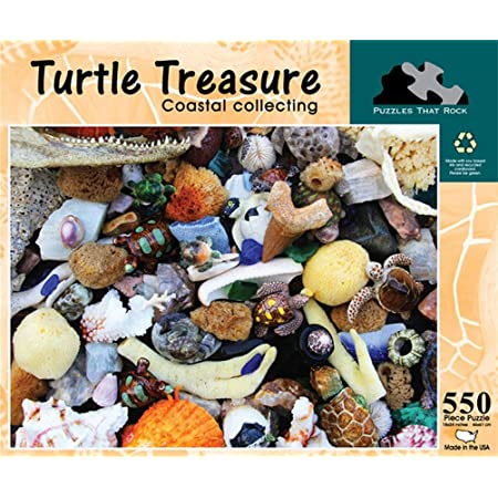 550 Piece Jigsaw Puzzle Puzzles that Rock Coastal Collecting Turtle Treasure