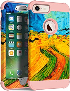 MAXCURY Vincent Willem Van Gogh Painting Series Three Layer Heavy Duty Protective Cover Case for iPhone 6/6s/7/8 Regular S...