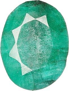 Gemas naturales de esmeralda facetada, forma ovalada, color verde de 18,00 quilates, piedra certificada esmeralda para la ...