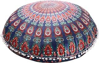 Funda de cojín de suelo con diseño de mandala WINOMO de 75 x 75 cm