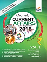 Quarterly Current Affairs Vol 3 - July to September 2018 for Competitive Exams