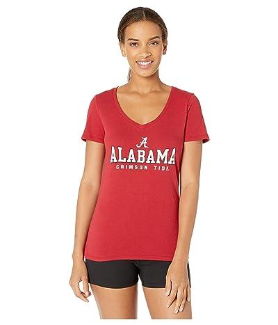 Champion College Alabama Crimson Tide University V-Neck Tee (Cardinal 2) Women