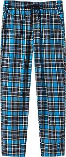 MoFiz Men's Pyjama Bottoms Soft 100% Cotton Check Woven Lounge Pants Sleepwear Loungewear Trousers