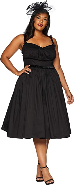 Plus Size Micheline Pitt For Unique Vintage Alice Swing Dress