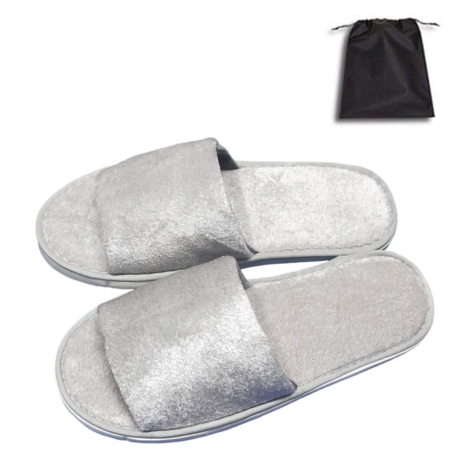 5 Pair of Open Toe online shop Breathable Guests Selling for Slippers Spa