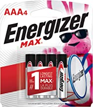 Energizer AA Batteries (4 Count), Double A Max Alkaline Battery – Packaging May Vary