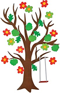 Fun Express Classroom Giant Tree with Seasonal Cutouts - Educational Classroom Decor - 136 Pieces