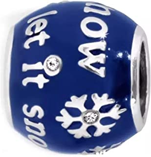 Brighton Let It Snow Bead Snowflake Enamel Swarovski Crystal