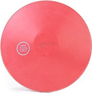 Crown Sporting Goods 1.6kg 橡胶练习飞盘 - 高中男孩官方重量 - 室内和室外,红色无痕橡胶,1.6 公斤,田径和田径