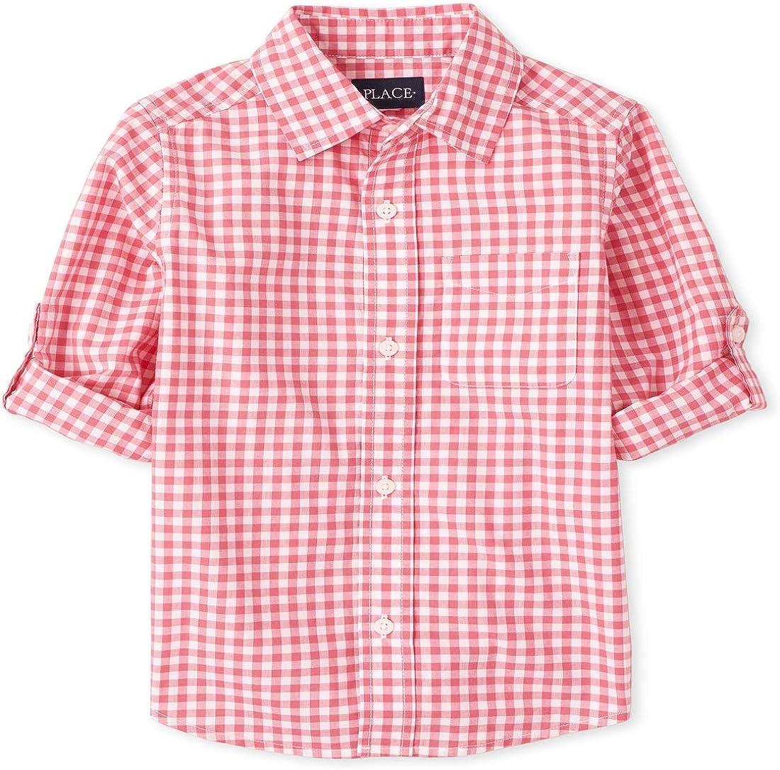 The Children's Place Boys' Long Sleeve Button Down Shirt