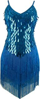 Whitewed Tassel Sequin 1920s Great Gatsby Flapper Girls Dance Dress Costume
