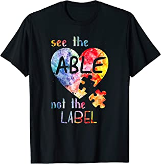 see the able not the label shirt cute autism awareness